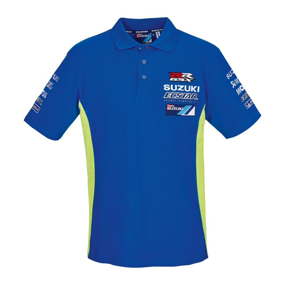 Free shipping 2018 MOTO GP Andrea Iannone 29 For Suzuki Team ecstar Mens Polo Shirt Motor Sport Blue/Green