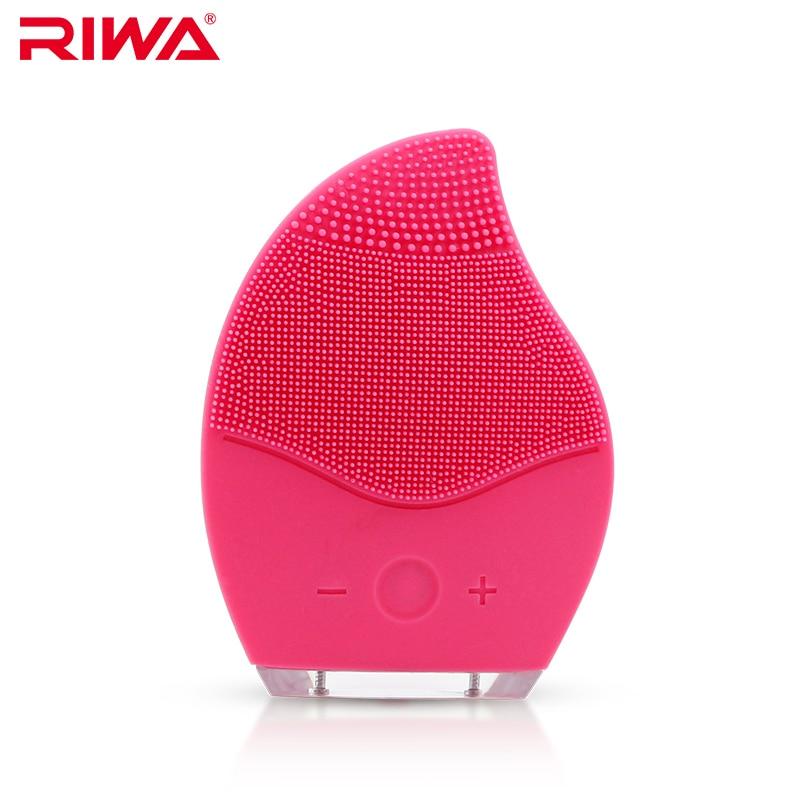 RIWA Ultraschall Elektrische Gesichtsreinigung Pinsel Wasserdichte Silikon Gesicht Massagegerät Vibration Haut Entfernen Mitesser Porenreiniger