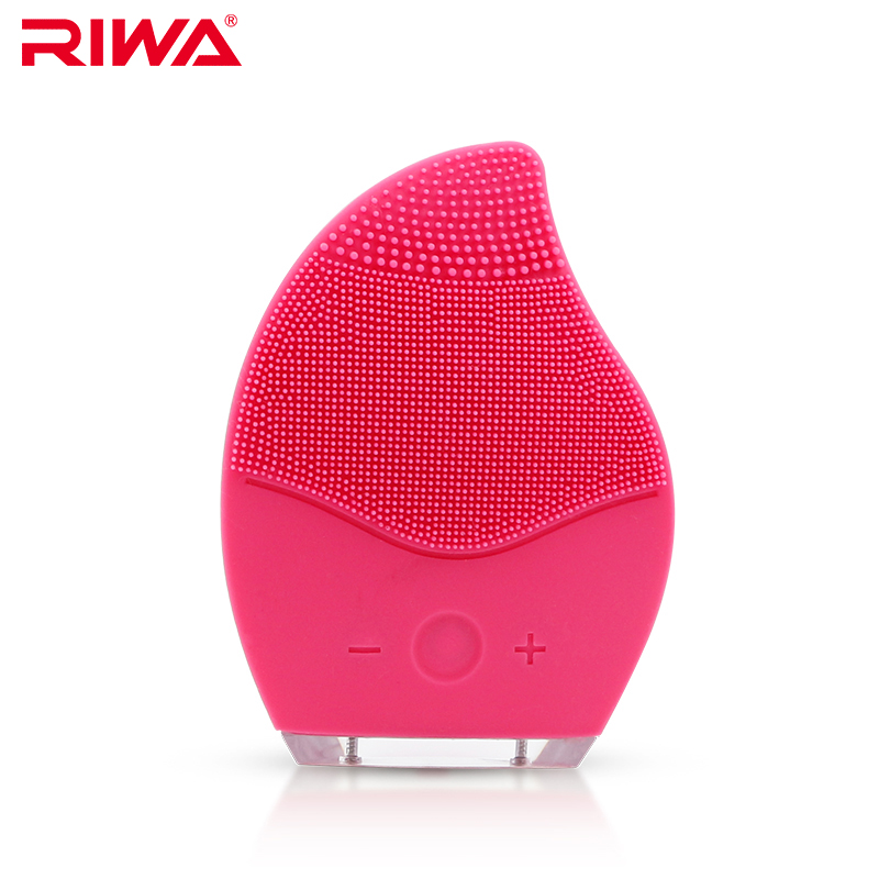 купить RIWA Ultrasonic Electric Facial Cleansing Brush Waterproof Silicone Face Massager Vibration Skin Remove Blackhead Pore Cleanser онлайн