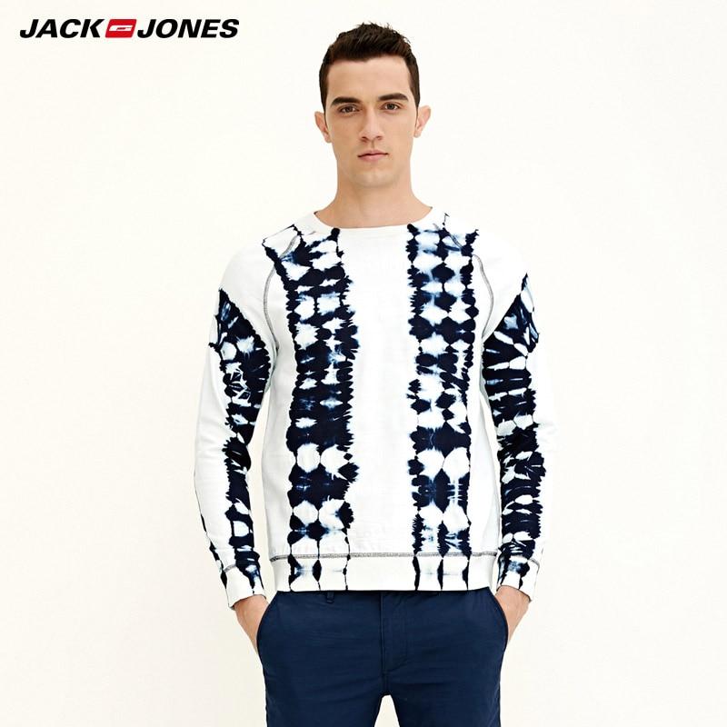 External Drawstrings Mens Jack Jones Money Hoody In Navy Long Sleeve Hooded