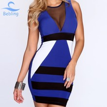 Bebling sexy club dress 2015 Summer New Brand vestido de festa Women's bodycon dress Casual Sleeveless Vest party dresses 19-071