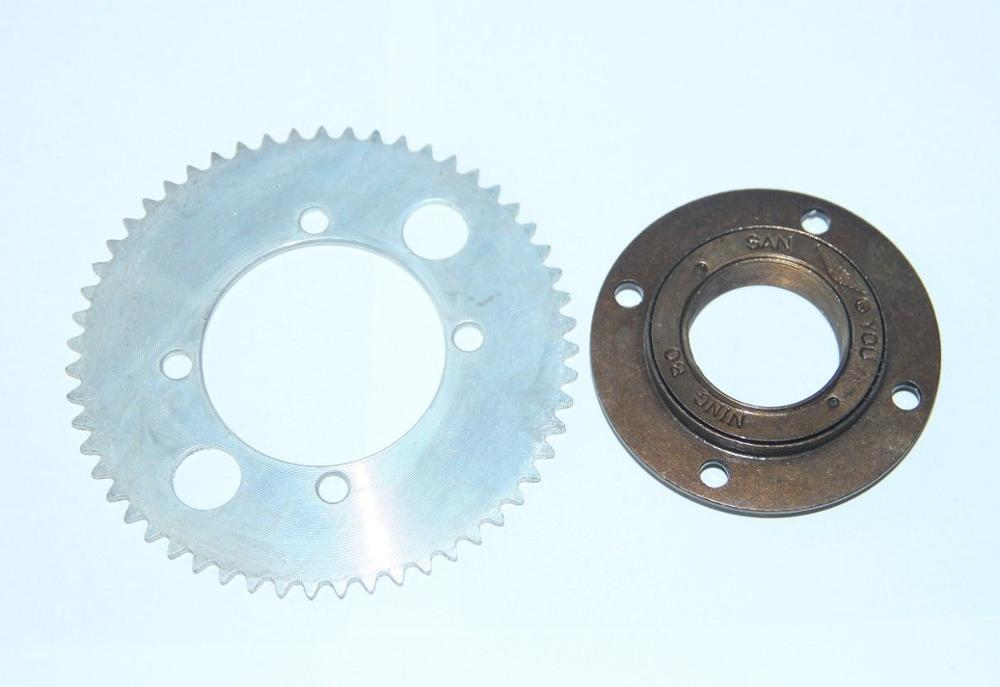 Electric bike scooter rear sprocket 55t tooth 25h chain for Freewheel sprocket for electric motor