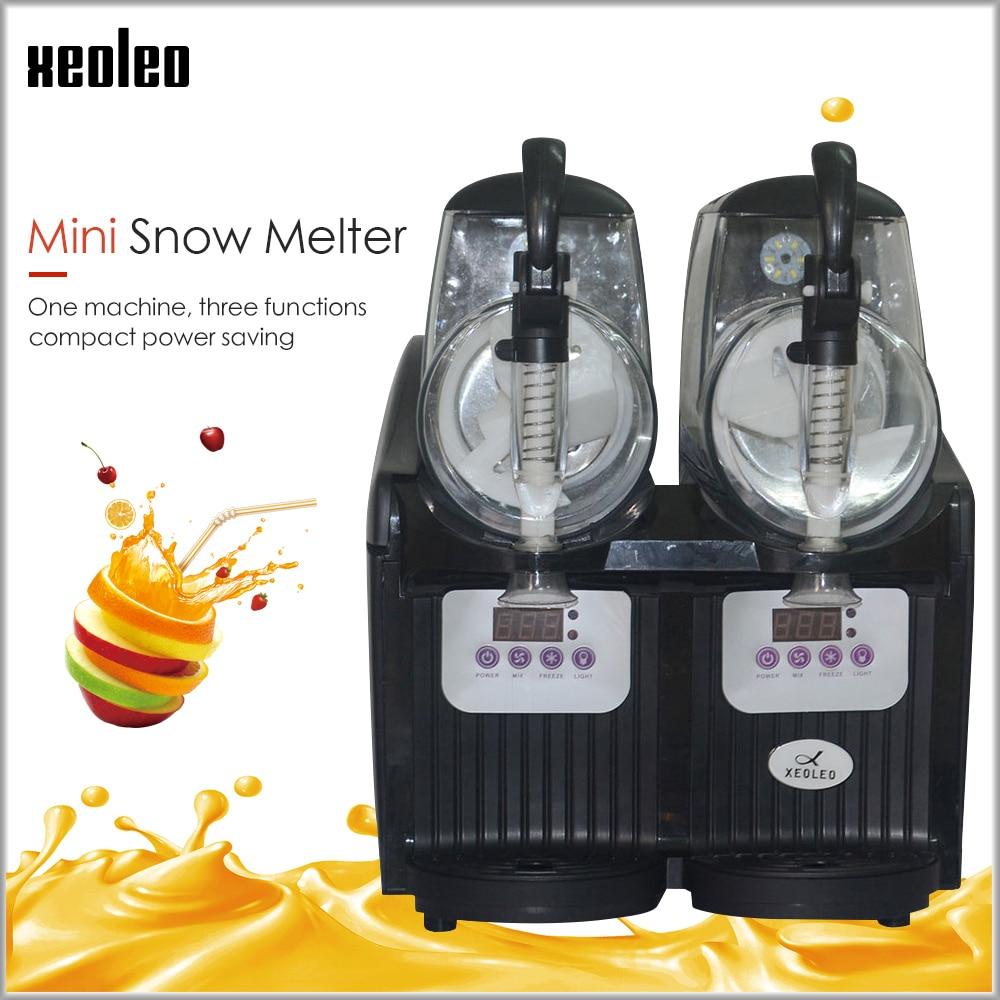 Xeoleo tanque duplo slush máquina 2.5l ice cream maker 300 w neve máquina de derretimento comercial smoothies granita máquina gelo slusher