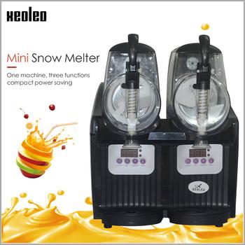 XEOLEO podwójny zbiornik maszyna do slushie 2 5L maszyna do lodów 300W maszyna do topienia śniegu komercyjne koktajle granita maszyna Ice Slusher tanie i dobre opinie 400 w 1501 ml KX-02 Chłodzenie powietrzem 2 5L*2 34*37*44cm R134a 22KG