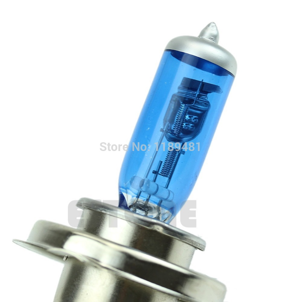 Super White H4 100W 9003 HB2 Bi-Xenon HID High Low Beam Headlight Bulb 6000K 2X