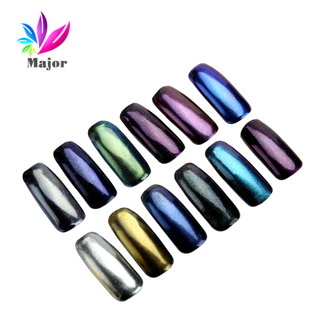 3g Magic mirror effect nail powder Chrome Pigment Powder Nail ...