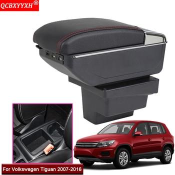 Soporte de caja de almacenamiento de consola central para asiento de coche ABS, accesorios para automóvil, apto para Volkswagen Tiguan 2007 -2016