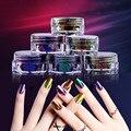 Graceful 6 Colores Polvo Flakes Nail Bling Espejo Shimmer Powder 2 g/caja Nail Art Glitter Decoración FEB23