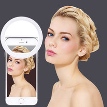 Anel de selfie com luz de led fotográfica, luz de selfie com carregador usb, anel de led para iphone 6, 7, x, xiaomi foto foto