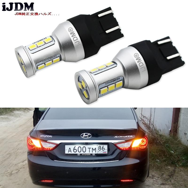 автомобиль iJDM света сигнала поворота СИД 3157 7443 1156 BAU15S P21W светодиодные лампы 12В желтый для автомобиля сигнала поворота света DRL Противотуманные парковка лампы