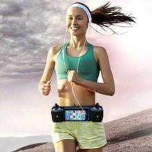 Спорттық гидравликалық белбеу бөтелкесі ұстағышы Fanny Pack сенсорлық экран ұстаушы Marathon Running Reflective Adjustable Bel Belt Bag