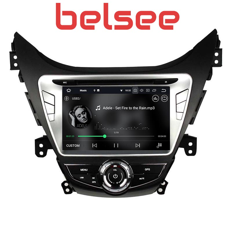 Belsee for Hyundai Elantra Avante i35 2011 2012 2013 Autoradio 2 Din GPS Stereo Android Car Radio DVD Multimedia Player Sat Nav