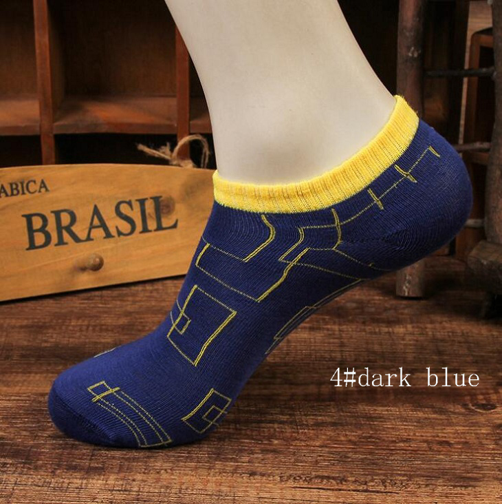 ankle socks creative design  casual Polyester cotton elastic short ship Breathable for summer spring men man male boy  Wh
