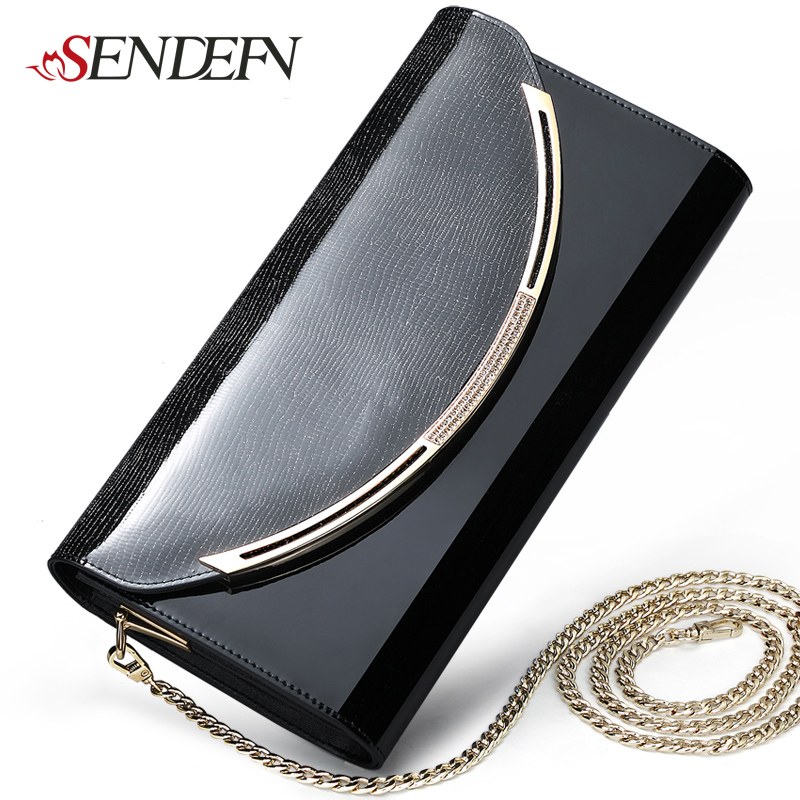 Sendefn Quality Leather Women Party Day s