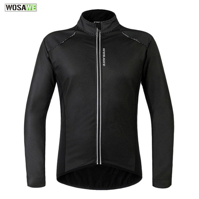 WOSAWE Thermal Bicycle Long-Sleeve Riding Jacket Road MTB Bike Sport Outfits Ciclismo Windproof Bicycle Jacket Cycling Clothing