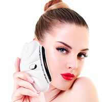 Electric Facial Detoxifier LED Heated Vibrate Massage Face Neck Anti Wrinkle Skin Tightening Detoxification Instrument