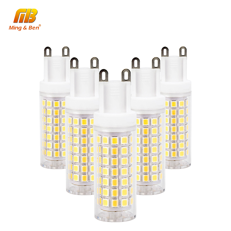 [MingBen] 5pcs No Flicker G9 LED Bulb SMD2835 Corn Spotlight 2W 4W 6W 8W AC220V LED Ceramic Bulb Replace Halogen Lamp LED Light