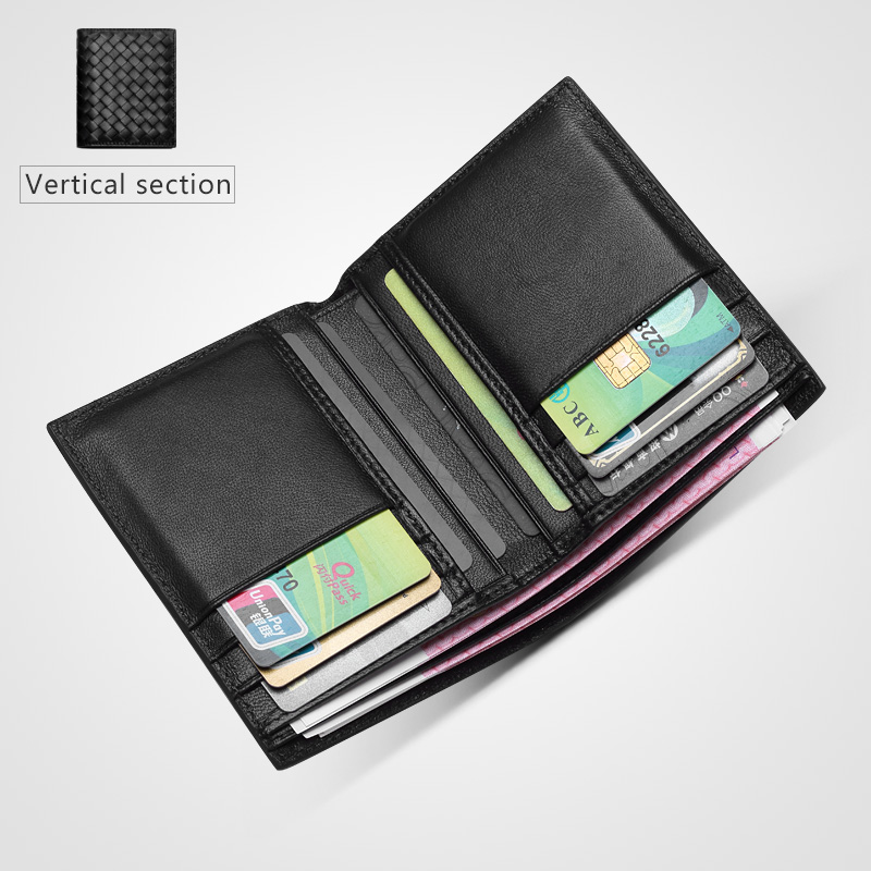 Cow Leather Purses Men Women Simple Durable Travel clutch Bank Business ID Card Wallet Holder Case with Coin Purse