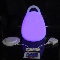 Светодио дный Светодиодная настольная лампа, водостойкая перезаряжасветодио дный светодиодная лампа, Беспроводная зарядка для мероприяти