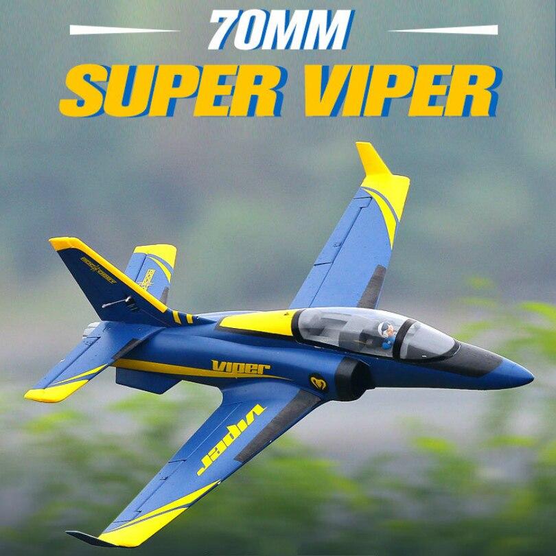 FMS 70 millimetri Ducted Fan EDF Super Viper Jet Trainer Blu 6 S EPO con Ritrae PNP RC Aereo Hobby, modello di Aereo Aereo Aereo Avion