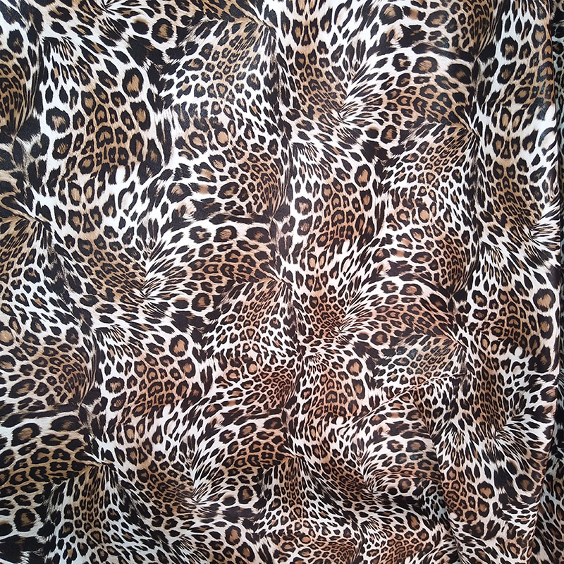10 Fabric Covered Sewing Buttons Animal Leopard Print Brown Blue Red Grey 2cm