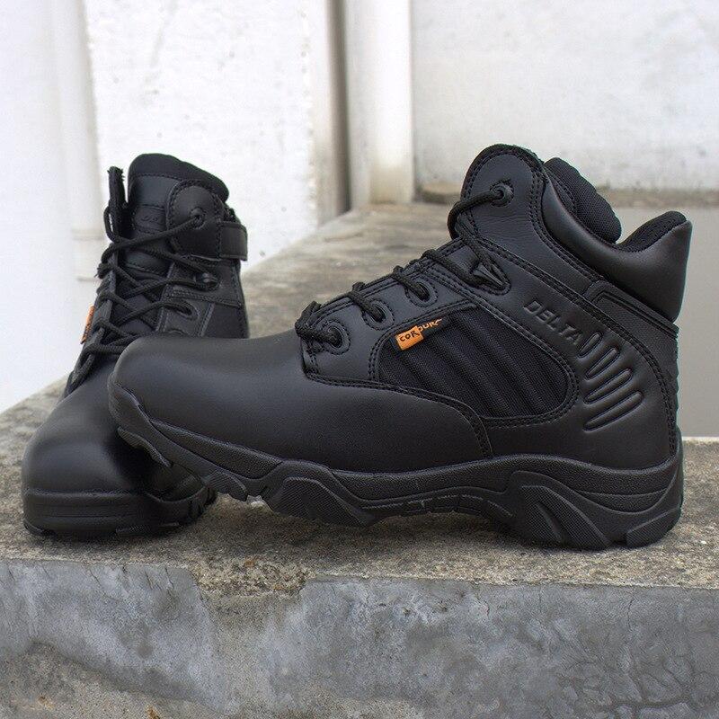 Hiver hommes Delta militaire bottes Force spéciale étanche tactique désert Combat cheville bateaux armée travail chaussures en cuir bottes de sécurité - 4
