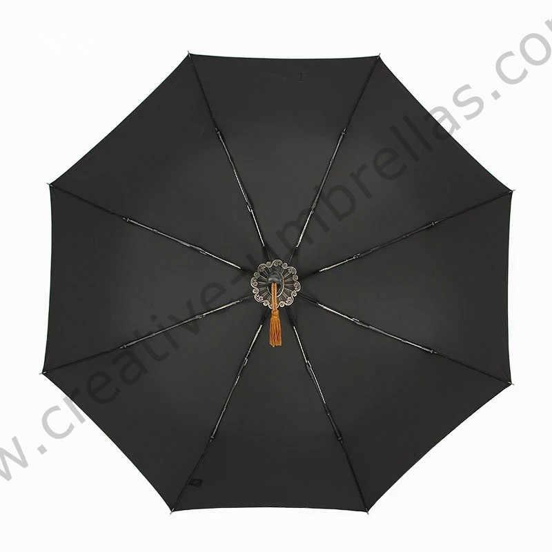 105 سنتيمتر dia. Steel سيف ساموراي كاتانا مظلة ولفيرين ثلاثة أضعاف السيارات المفتوحة السيارات إغلاق يندبروف السكاكين سبايك التنين المظلة