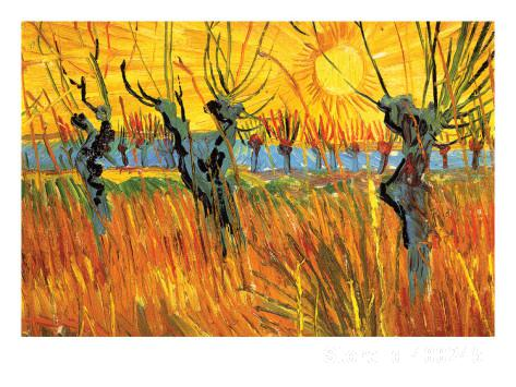 Modern art Pollard Willows at Sunset by Vincent Van Gogh reproduction paintings Hand painted High qualityModern art Pollard Willows at Sunset by Vincent Van Gogh reproduction paintings Hand painted High quality