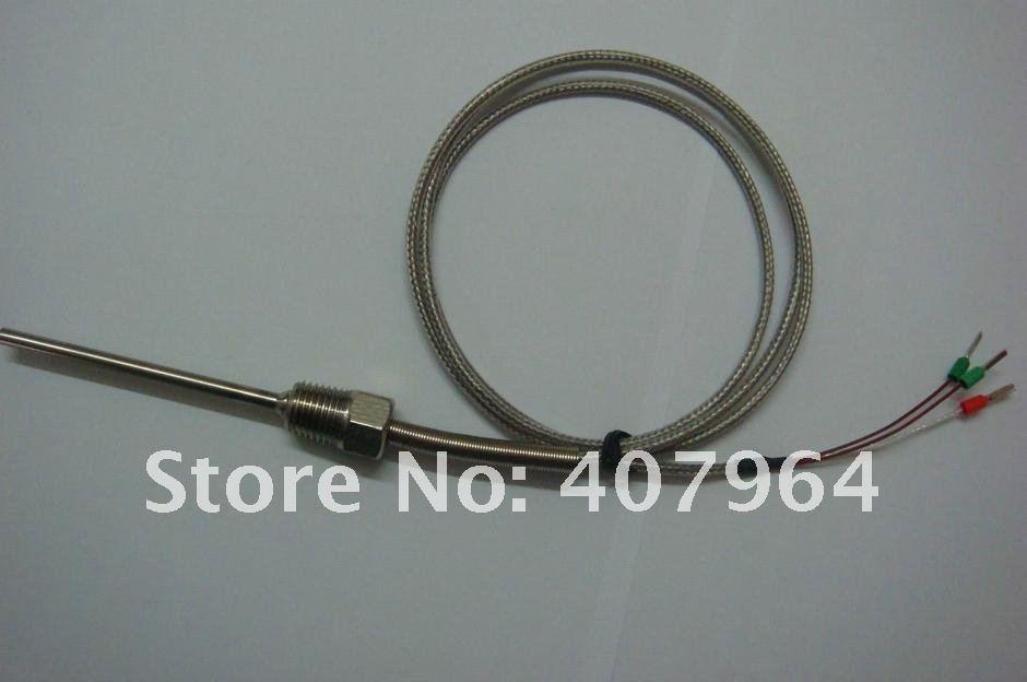 K Тип термопара, 1/2 npthread, СС оплетка кабеля