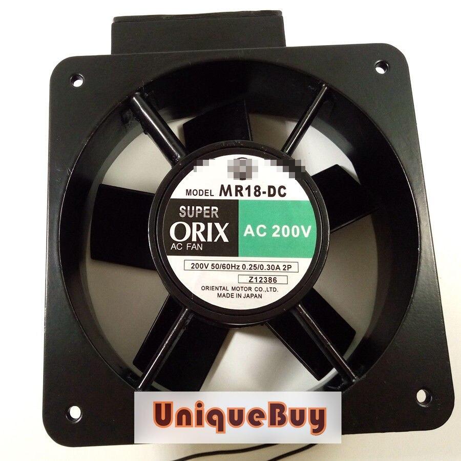 For ORIX MR18-DC Large air volume cooling fan AC200V 0.25/0.3A 180*180*65mm 2pin new original nmb 9cm9038 3615rl 05w b49 24v0 73a 92 92 38mm large volume inverter fan