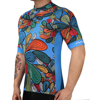 2018 100 Polyester Pattern Bicycle Mtb Speckle Cycling Jersey Short Sleeve Cycling Clothing Ropa Ciclismo Invierno