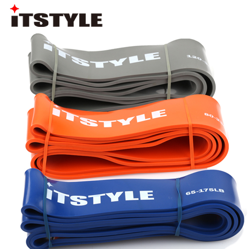 Heavy Level 208cm Pull up rope Natural Latex Yoga Resistance Band Fitness Body Building Rally