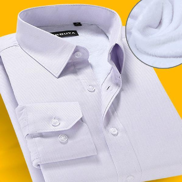 Top Quality men inverno camisa social , camisas de veludo térmica de manga comprida slim fit sociais camisas quentes masculino importados baratos - roupas