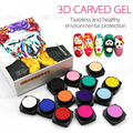 CoKEKOU Carved Patterns Gel Soak Off UV Gel Nail Art Modelling Manicure 3D Bright 13 Colors Glitter Sculpture 5g gel nail polish