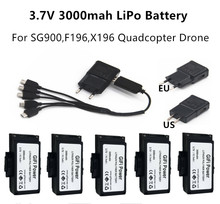 3.7v 3000mah SG900 RC Battery Foldable GPS Drone Accessories for sg900-s f196 / x196 rc Quadcopter