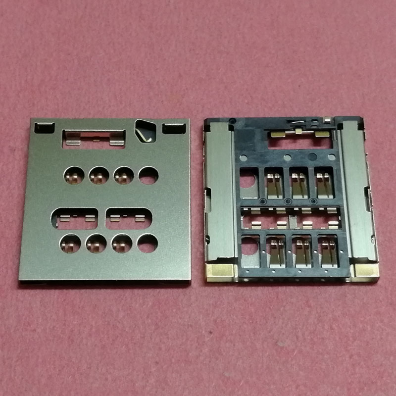 2pcs SIM Card Reader Slot tray Holder Connector For Sony Xperia Acro S LT26W LT28 LT28I LT28H Socket plug