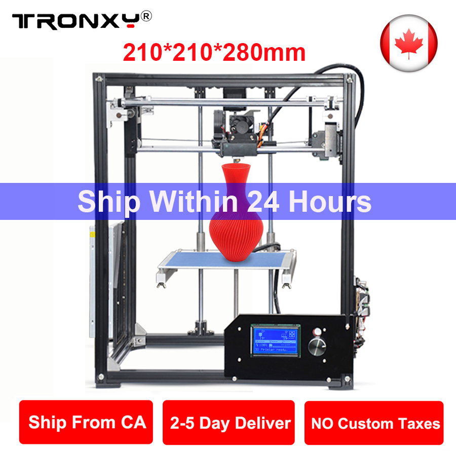 High Precision Desktop 3D Printer DIY Kit Cheap 3D Printers Large Printing Size 3D Metal Printer Free Ship From Canada Warehouse 3d can canada make peace