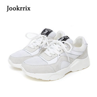 Jookrrix New Arrival Spring Fashion Lady Casual White Shoes Women Sneaker Leisure Black Shoes Genuine Leather