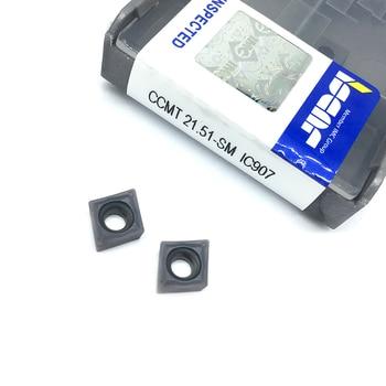 10PCS CCMT060204 SM IC907 Internal Turning Tools Carbide insert Lathe cutter Tool Tokarnyy turning insert Turning Tool