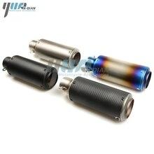 YUANQIAN contrassegno del laser tubo di Scarico del motociclo eape del silenziatore del tubo in fibra di carbonio Per Ducati 748 748SS 750SS 749 749 S 749R 848 EVO 900SS