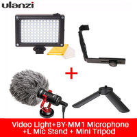 Ulanzi For Smooth Q Phone Video Setup Boya Microphone LED Video Light Stand Bracket For Zhiyun