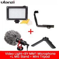 Ulanzi Phone Video Setup Boya Microphone LED Video Light Stand Bracket For Zhiyun Smooth Q Smooth