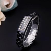 2016 Womens Watches Top Quality Quartz Watch Women Black White Ceramics Dial Bracelet Watch Casual Women
