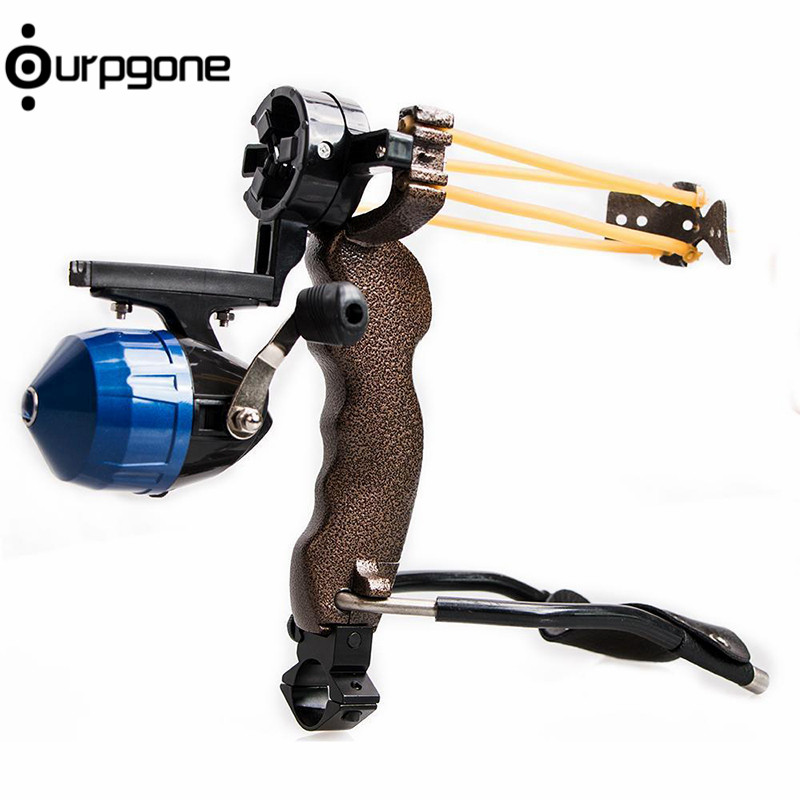 Ourpgone Outdoor New High Velocity Hunting Fishing Slingbow Wrist Slingshot Arrow Rest Catapult Free Shipping free shipping powerful camouflage bow catapult outdoor hunting slingshot folding wrist high velocity brace hunting catapult