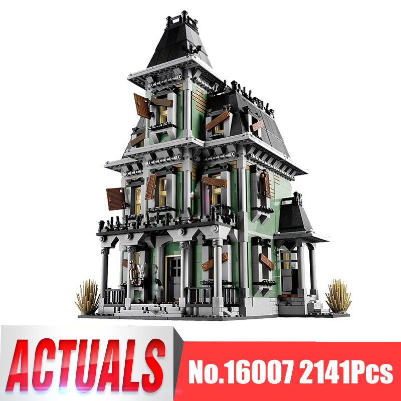Lepin Movie Figures 16007 2141Pcs Monster Fighter Haunted House Model Building Kits Blocks Bricks Kid Toys Compatible With 10228 2141pcs monster fighters haunted house vampyre castle 16007 model building blocks children gifts sets movie compatible with lego