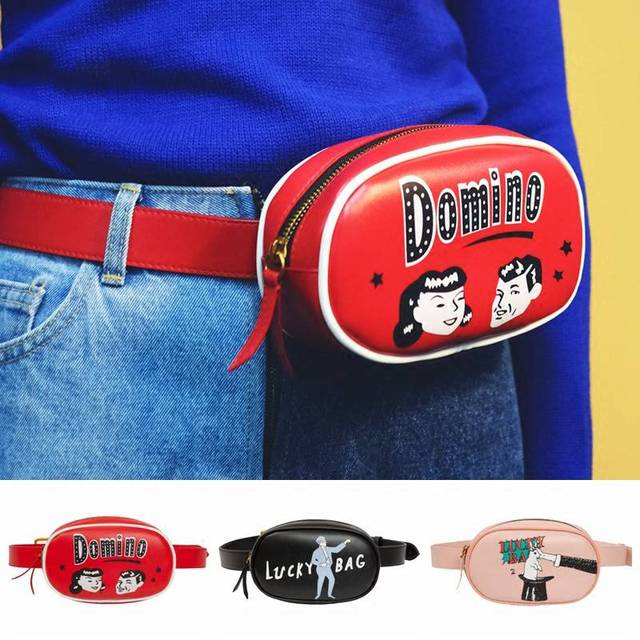 Waist Bag Leather Belt Bag for Women Red Pink Black Adjustable Banana Chest Bag Detachable Belt Bag Women's Handbag heuptas