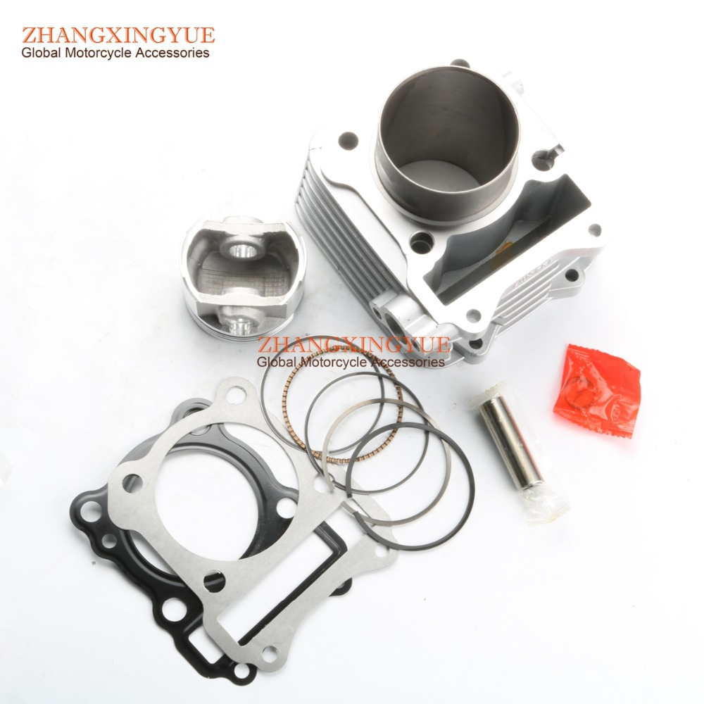 62mm BIG-BORE Barrel Cylinder Dome Piston Kit Upgrate 150cc for SUZUKI GS125 GN125 EN125 Euro 2 Emission Standard цена и фото