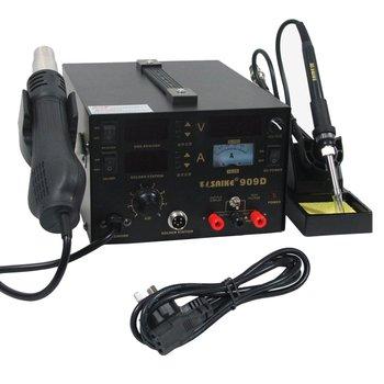 3in1 909D+ Soldering iron+Hot Air Gun+Power Supply 220V/110V SAIKE 909D Soldering/Hot air gun rework station Supplier
