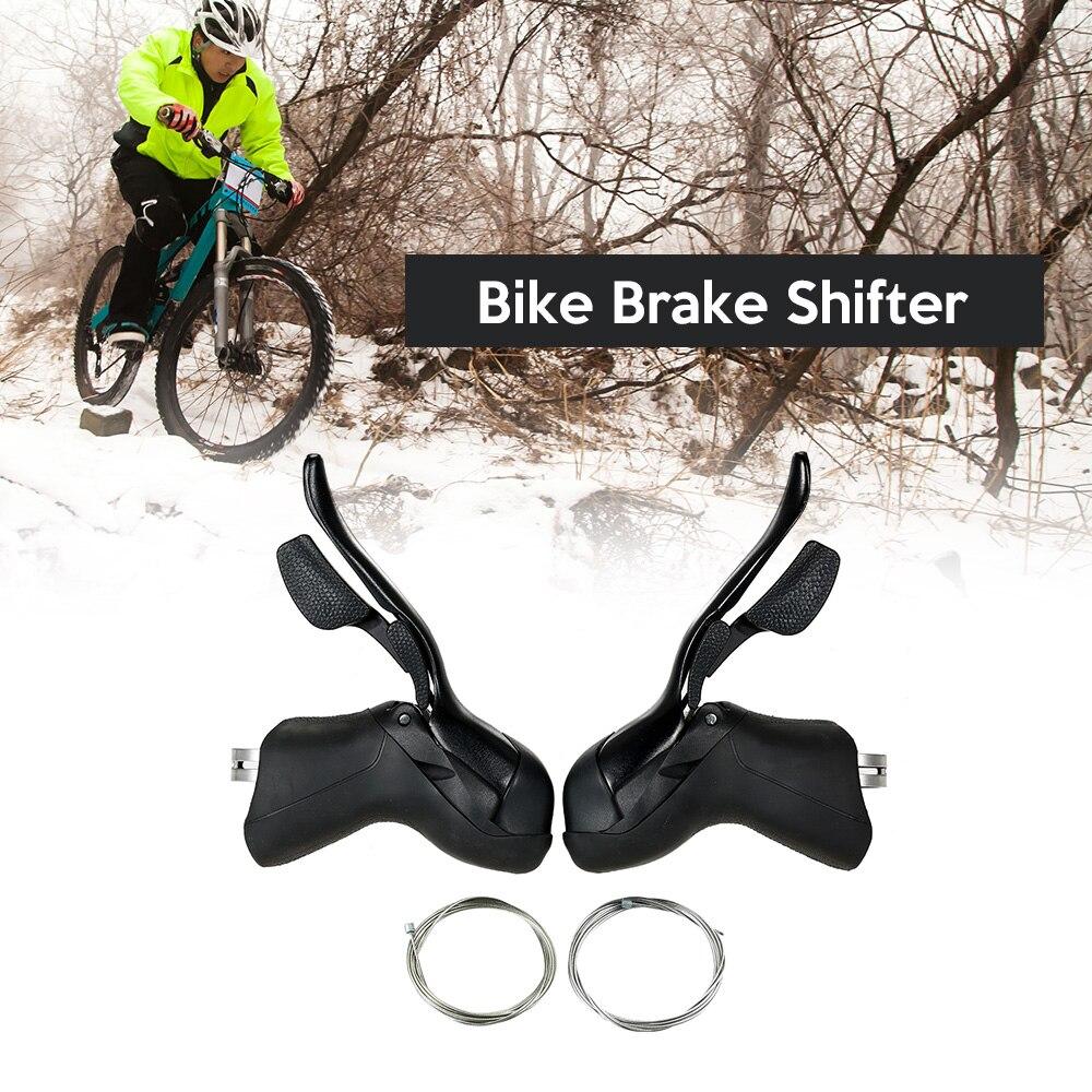 バイクシフターレバーフロントリアディレイラーセット 7 s/8 s/9 s/10 s ロードバイクブレーキレバー余分なインナーシフトケーブル  グループ上の スポーツ & エンターテイメント からの 自転車変速装置 の中 1