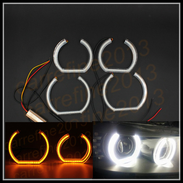 For Bmw E90 Sedan Dual Color E90 Led Angel Eyes Halo Rings Kit